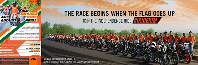 Noida Diary: KTM Orange Independence Ride