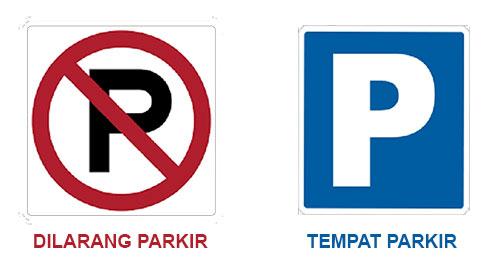tanda rambu parkir