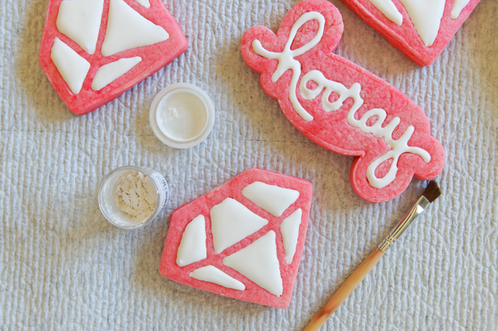 Hooray and Diamond Stamped Cookies ♥ Sugarbelle cookie cutters and stamps