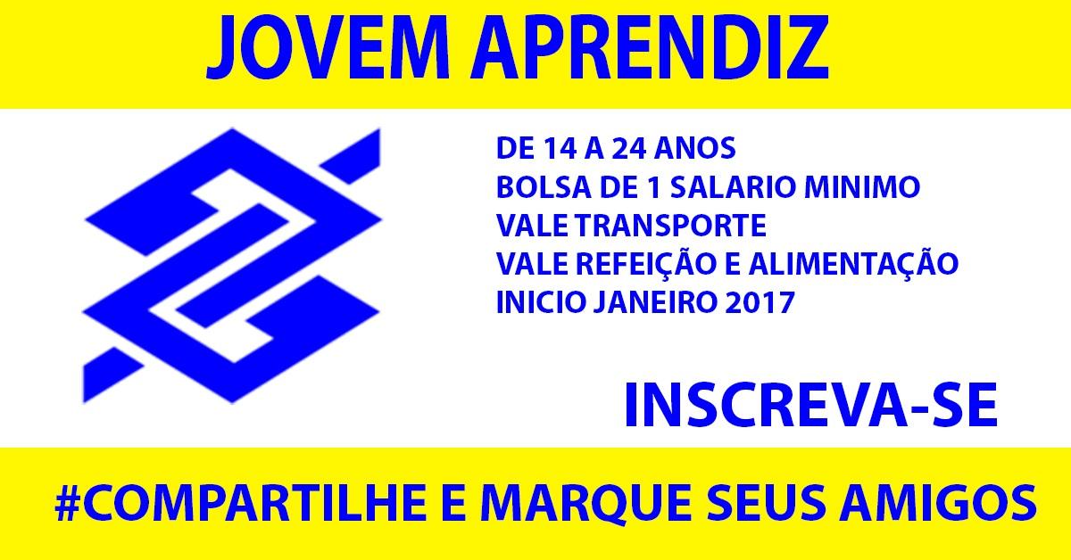 Jovem Aprendiz Banco do Brasil 2018 Vagas aberta