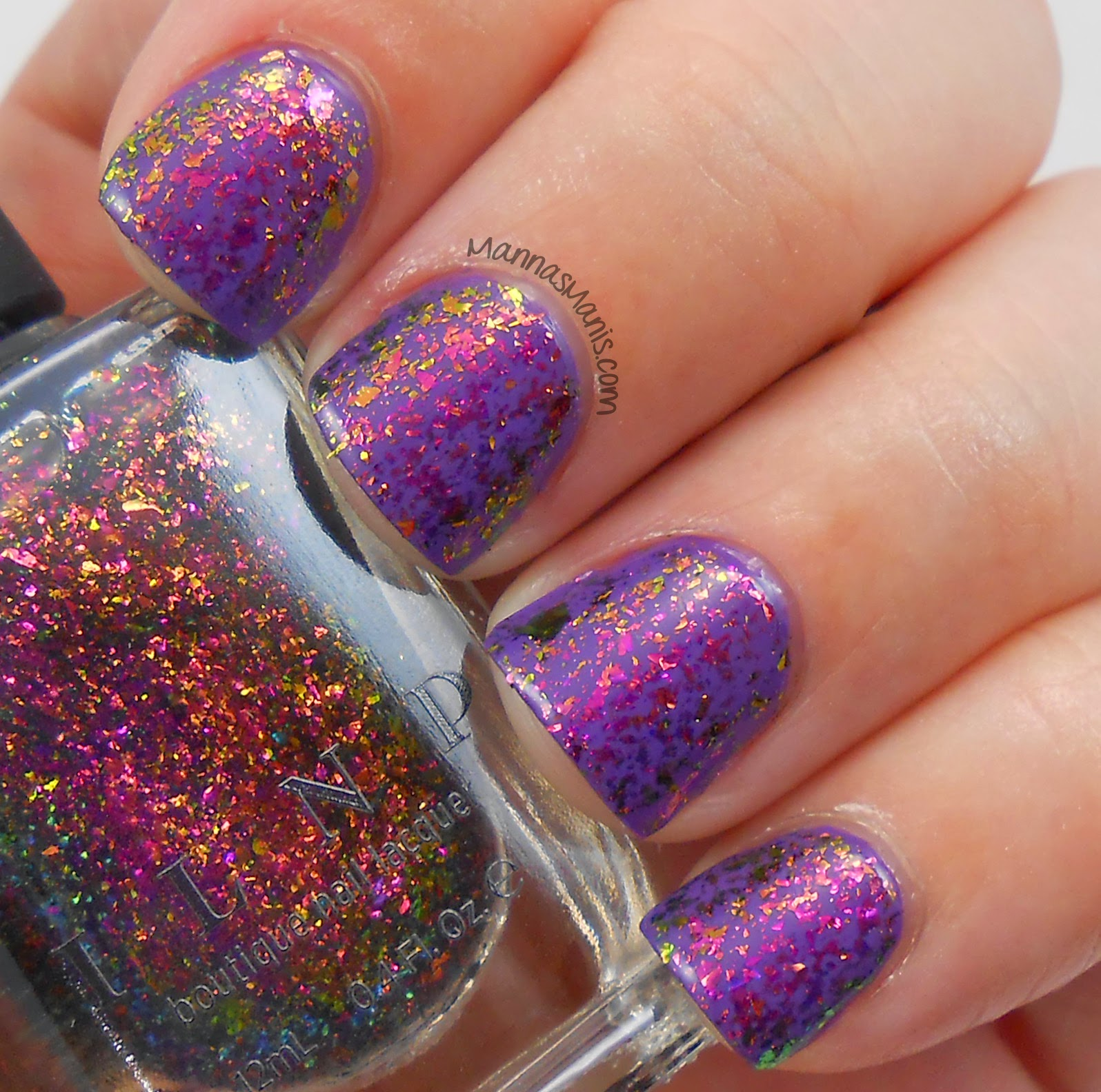 ILNP electric carnival, a multicolored flakie nail polish