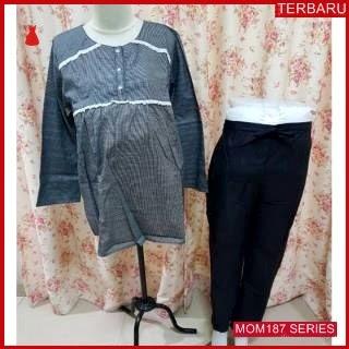 MOM187B17 Baju Setelan Hamil Tangan Menyusui Bajuhamil Ibu Hamil