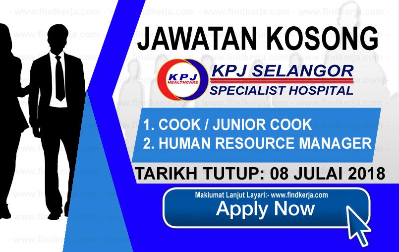 Jawatan Kerja Kosong KPJ Selangor Specialist Hospital logo www.ohjob.info www.findkerja.com julai 2018