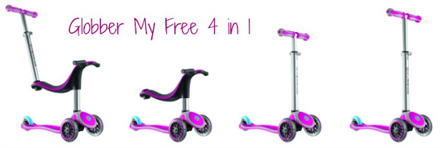 Globber My Free 4 in 1 scooter for toddlers and young children