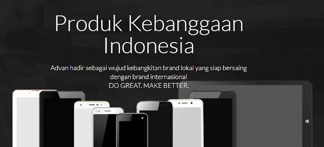 Advan G1 Produk Hasil Karya Indonesia