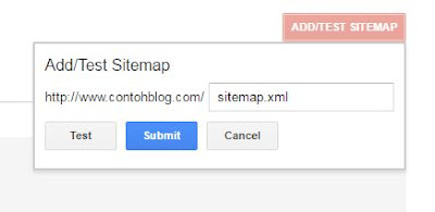 daftarkan peta situs blog ke Google