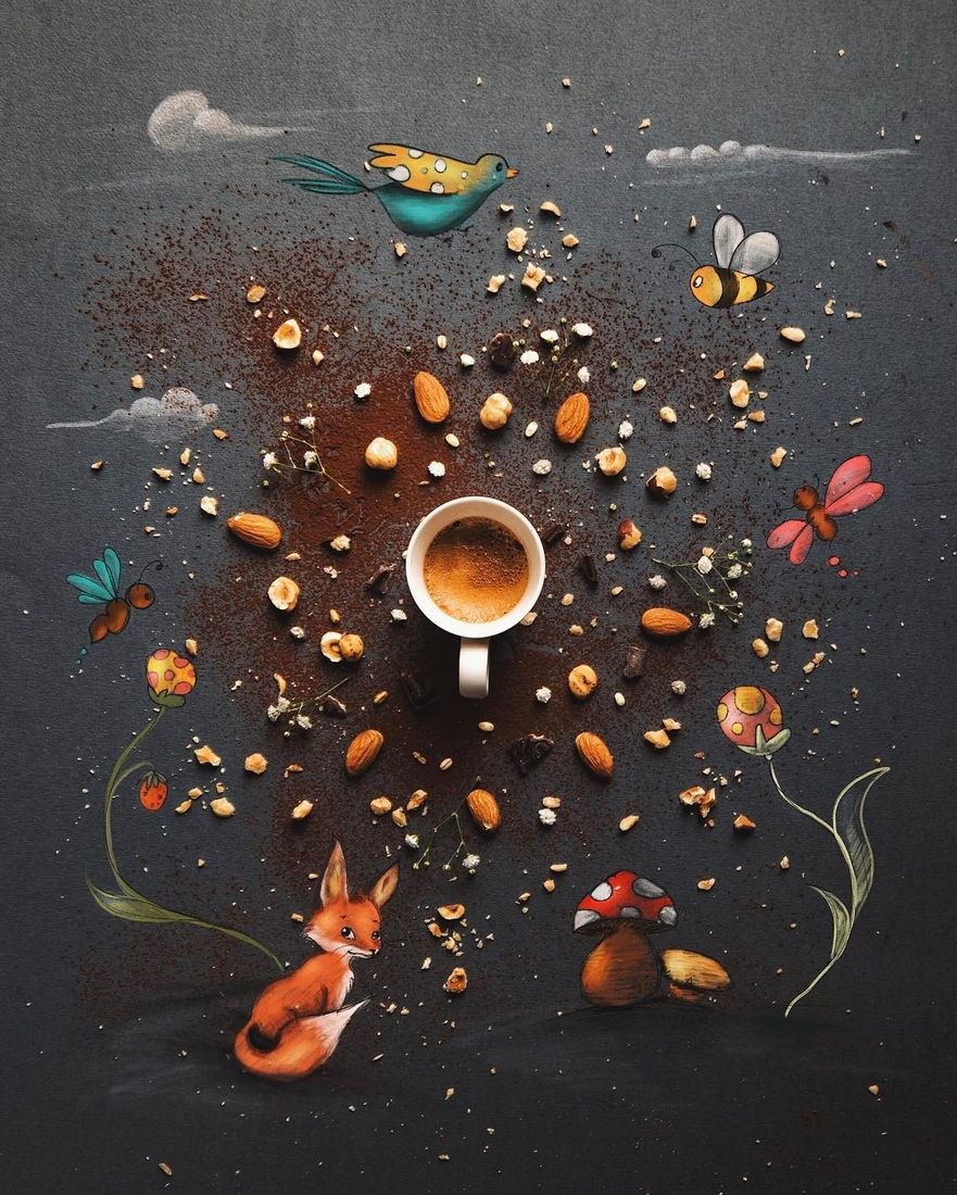 04-Coffee-Smile-Laugh-Repeat-Cinzia-Bolognesi-The-Coffee-Rituals-and-Illustrated-Compositions-www-designstack-co