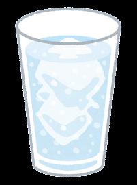 炭酸飲料のイラスト(水色)