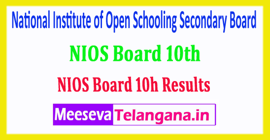 NIOS 10th Result 2018 National Institute of Open Schooling Secondary Board 10th Class 2018 Results