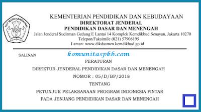 Juknis Program Indonesia Pintar (PIP) Jenjang SD SMP SMA SMK Tahun 2018