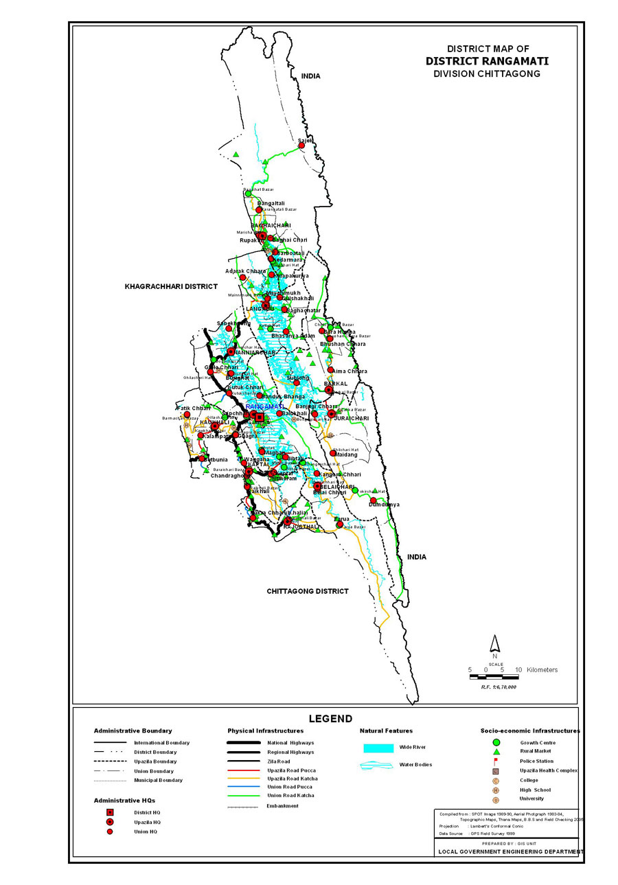 Rangamati District Map Bangladesh