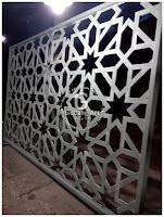 ornamen roster masjid aluminium cor