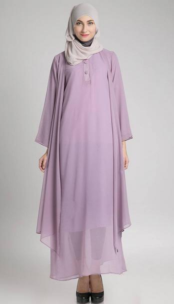 Contoh Dress Muslim Trendy Untuk Ibu Hamil