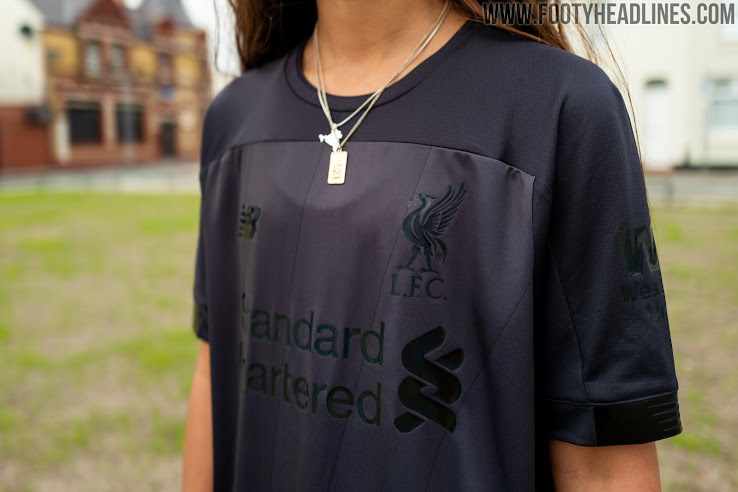 buy popular 82e9a 13cdf Stunning Liverpool 19-20 Blackout Kit Released - Footy Headlines