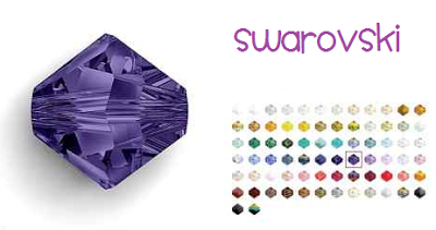 Como hacer Pendientes con Cristales Swarovski
