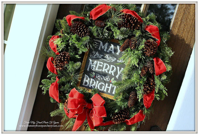 Farmhouse Christmas Porch-Wreath-From My Front Porch To Yours