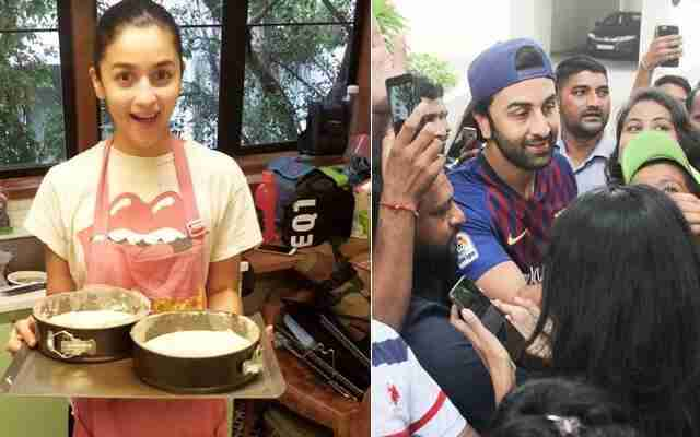 Alia Bhatt heats a birthday cake for Ranbir Kapoor