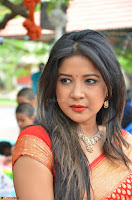 Sakshi Agarwal  in Orange Saree at Inauguration of Handloom And Handicraft exhibition ~  Exclusive 38.JPG