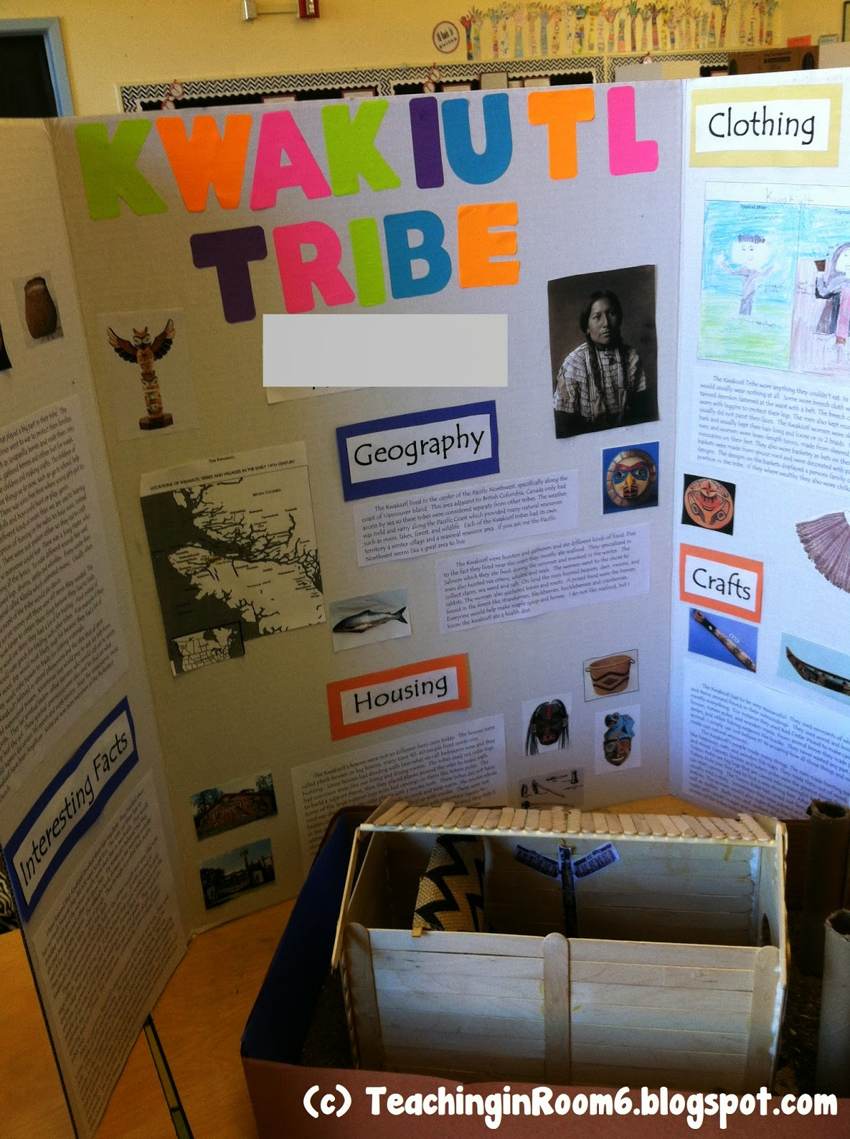 This project was put together by a 5th grade student during the Native American social studies unit.