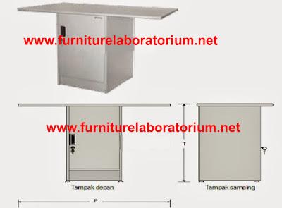 Meja Laboratorium Sekolah  Model LD-04