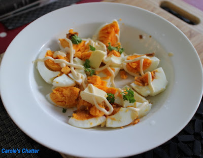 Carole's Chatter: Rustic Egg Salad w Japanese Flavours