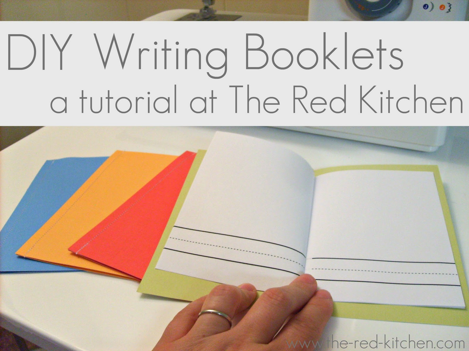 The Red Kitchen Diy Writing Booklets For Preschool And Home School With Free Writing Page