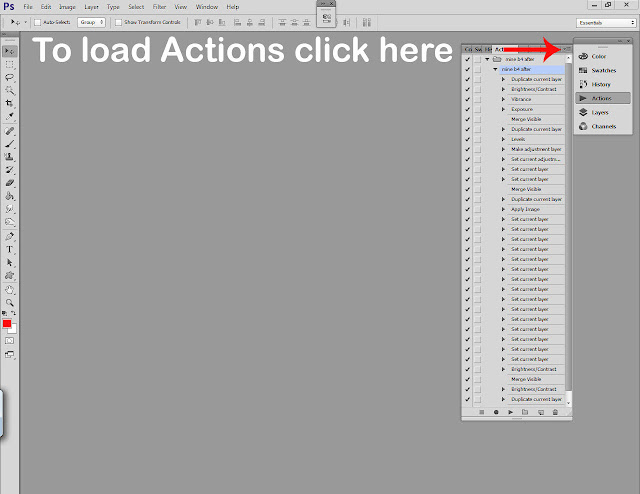 Photoshop actions tutorial step 4