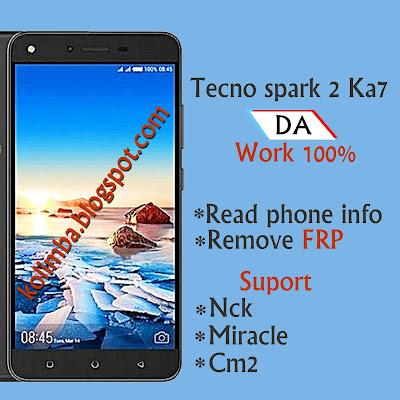 Tecno spark 2 Ka7 DA - Kolimba Inc
