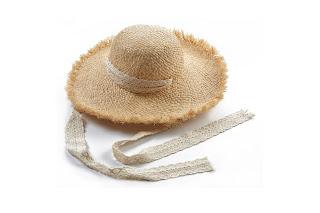 Cappello di paglia casual da donna