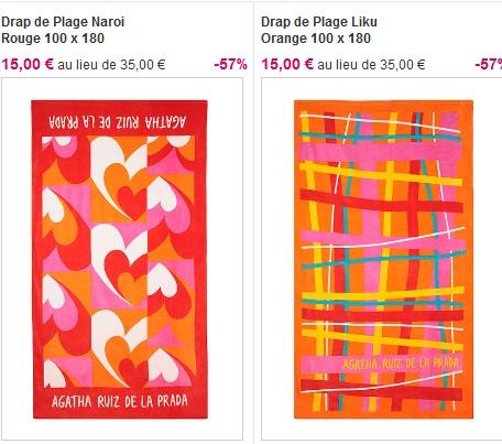 Serviette De Plage Agatha Ruiz Dela Prada.Ventes Privees Sur Internet Agatha Ruiz De La Prada