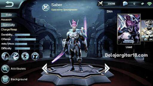 Saber mobile legend
