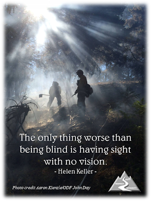The only thing worse than being blind is having sight not no vision. – Helen Keller