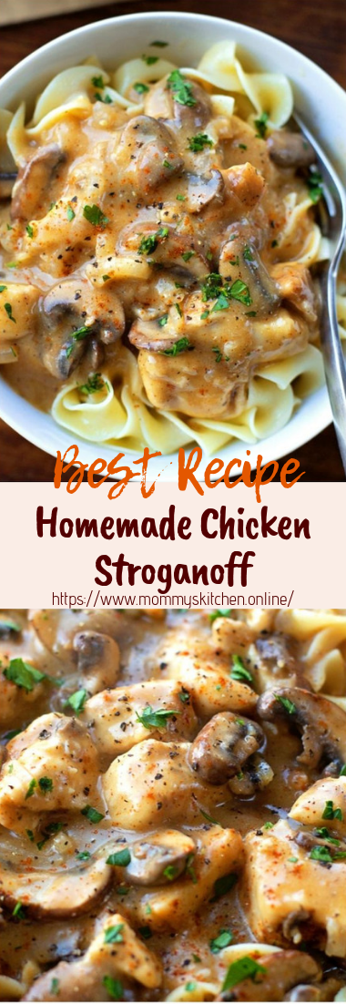 Homemade Chicken Stroganoff #dinnerrecipe #food