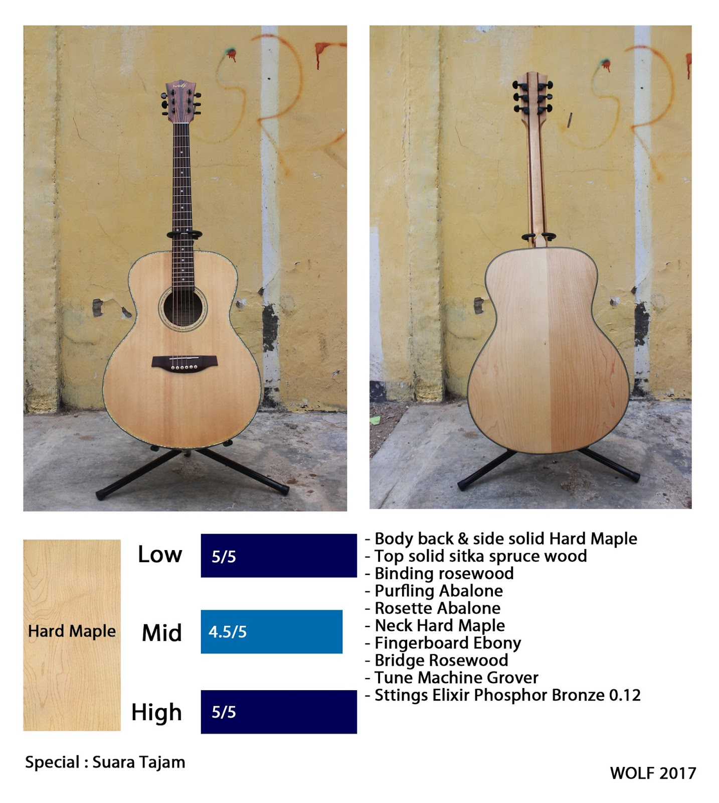 Wolf Guitar Master Tas Gitar Akustik Softcase Jumbo Di Indonesia Jarang Temukan Solid Mengunakan Kayu Hard Maple Apalagi Flamed Dan Jenis Lainnya Karena Memang Ini Bukan