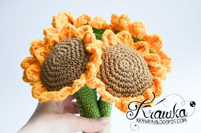 Krawka: sunflower bouquet free pattern by Krawka