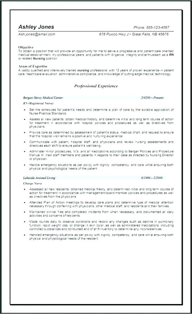 er nursing resume 2019