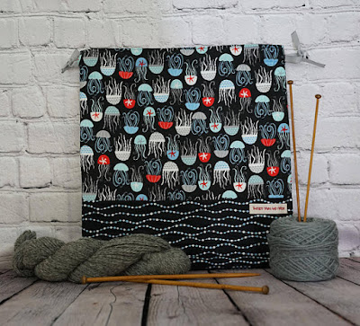 jelly fish project bag for socks and shawls
