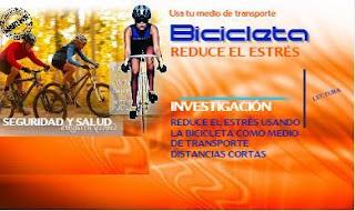 manejar bicicleta y estres