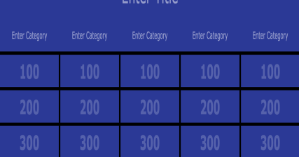 An Excellent Web Tool To Create Jeopardy Like Games