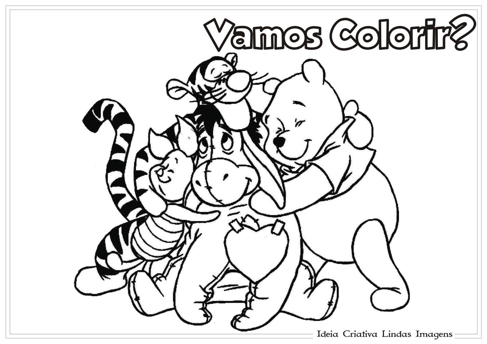 Desenho De Dia Do Amigo Para Colorir Turma Do Pooh
