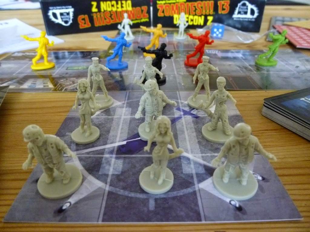 The Ham And Egger Files Zombies 13 Defcon Z Board Game