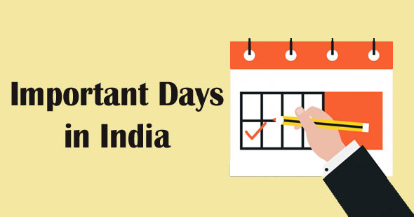 List of Important Days & Dates in India 2019