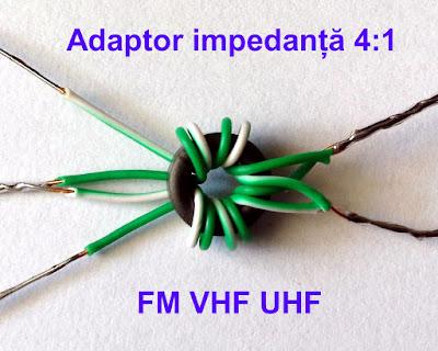 Adaptor de impedanță de bandă largă VHF-UHF