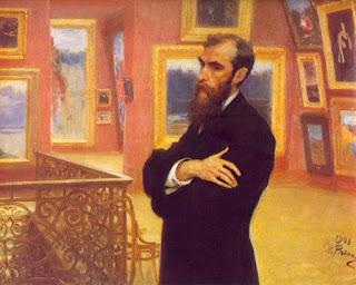 И. Е. Репин. Портрет Павла Третьякова. 1901