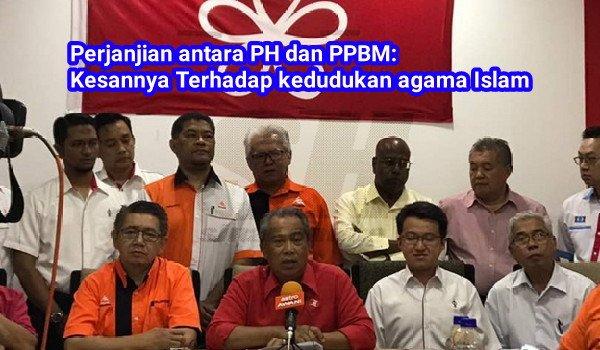 #PRU14: Perjanjian antara PH dan PPBM: Kesannya Terhadap kedudukan agama Islam