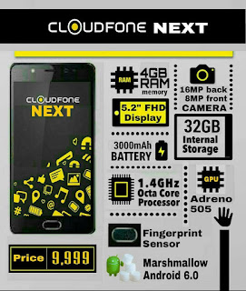 Cloudfone Next Specs Screenshot