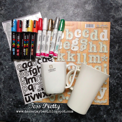 AT MY BEST...: Sharpie Mugs - DIY