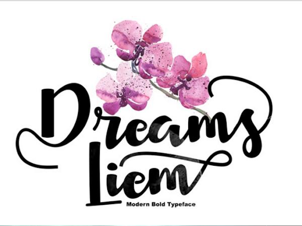 Download Dreams Liem Script Font Free