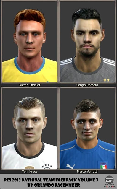 National Team Facepack PES 2013