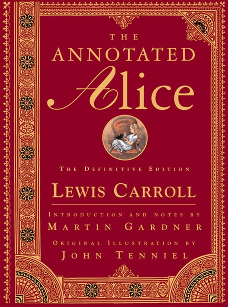 Cover to the 2000 Definitive Edition of 'The Annotated Alice'